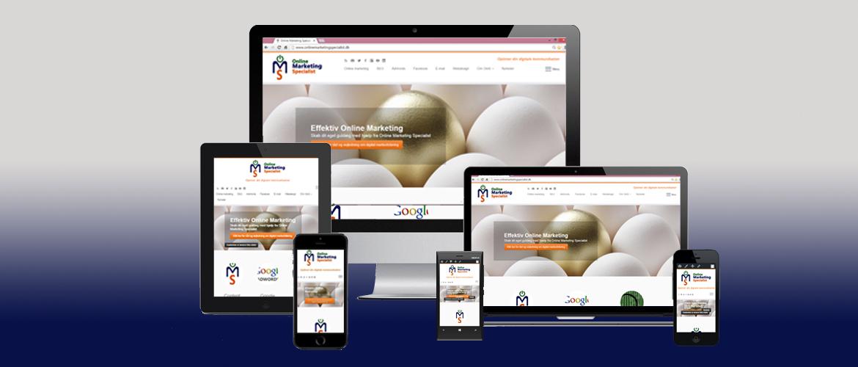 responsivt design online marketing specialist